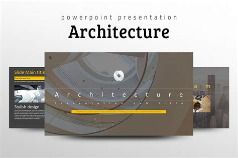 architecture ppt template presentation templates