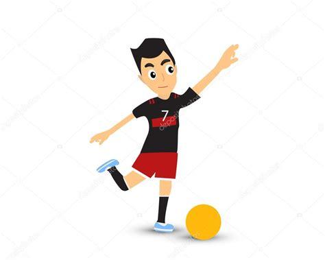 Hombre De Dibujos Animados Jugar Futbol Vector De Stock | hombre de dibujos animados jugar futbol vector de stock