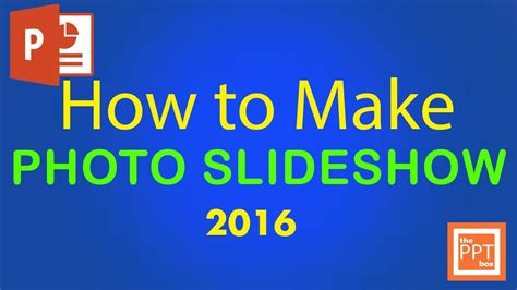 How To Make A Slideshow Of Pictures On A Pc