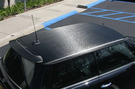 carbon fiber roof wrap   mini cooper los angeles ca