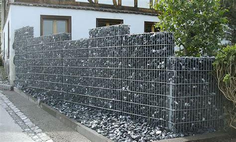 gartenzaun metall mit steinen gefüllt z 228 une gabionen gabionen