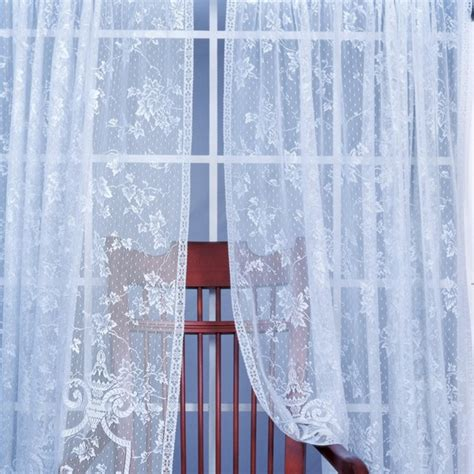 modern lace curtains heritage lace english ivy curtain panel modern