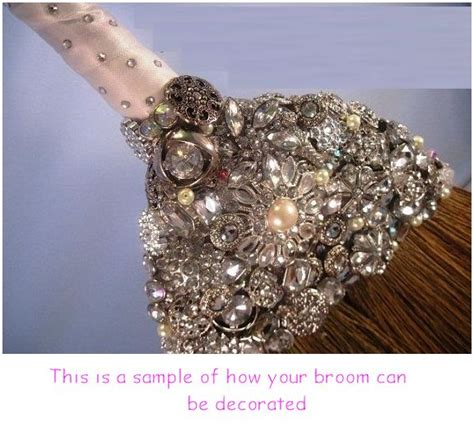 How To Decorate A Broom For A Wedding by Undecorated Wedding Jump Broom Undecorated