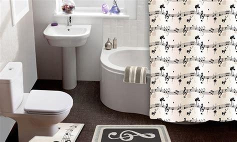 bath mat and shower curtain sets sheet music 15 piece shower curtain and bath rug set groupon