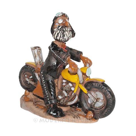 Suche Münch Motorrad by R 228 Ucherfigur Motorradfahrer R 228 Uchermann Keramik Handarbeit