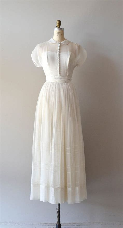 Brautkleider 40er by 1940s Wedding Dress Vintage 40s Dress Tender Gown