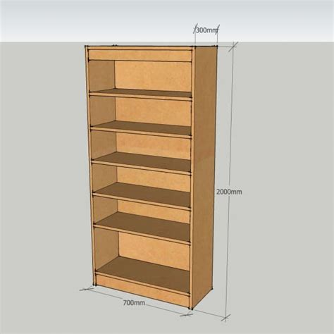 modular bookshelf modular bookcase unit with 5 adjustable shelves bespoke mdf