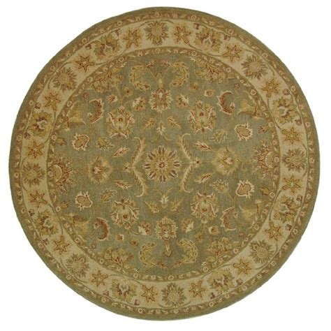 8ft rugs safavieh antiquity green gold 8 ft x 8 ft area rug at313a 8r the home depot