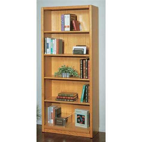 Wide Shelf Bookcase Concepts In Wood 30 Quot Wide 5 Shelf Bookcase 135335