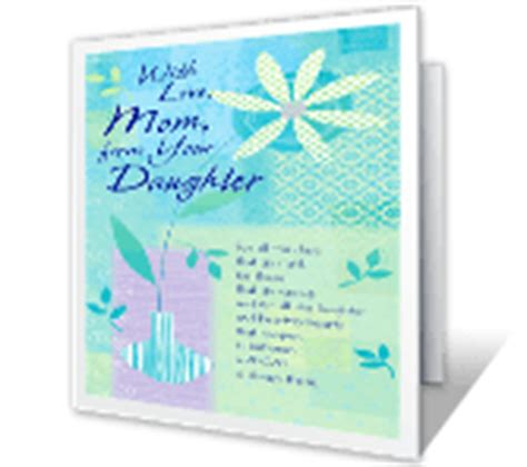 free printable christmas cards daughter with love from your daughter greeting card mother s day