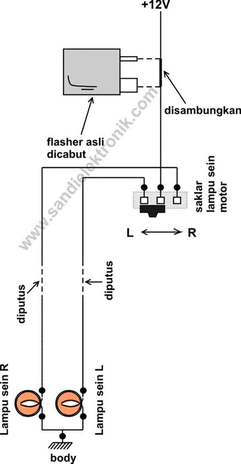 Flasher Sein Led Elektrik Kc flasher lu sein buatan sendiri yang unik sandi elektronik