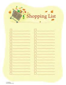 Thanksgiving Grocery List Template Family Grocery List Template Calendar Template 2016