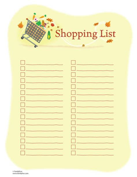 room shopping list free printable organizational lists isavvymom