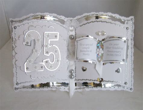 Handmade 25th Anniversary Cards - bookatrix 25th anniversary card