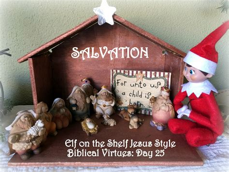 Jesus On The Shelf by On The Shelf Jesus Style Biblical Virtues Salvation