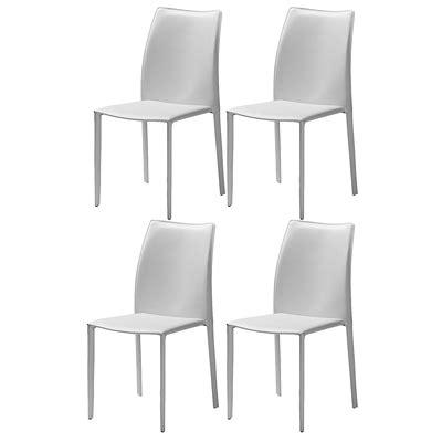 chaise cuir blanc chaise cuir blanc