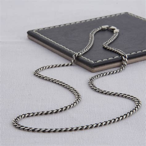 sterling silver men s curb chain necklace hurleyburley