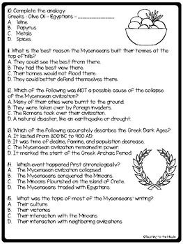 Minoans And Mycenaeans Worksheet ancient greece minoans and mycenaeans reading