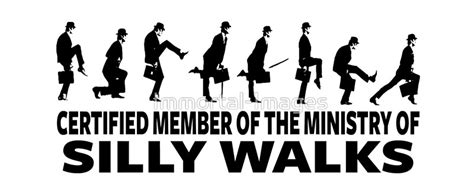 Wall Clock Stickers quot certified member of the ministry of silly walks quot mugs by