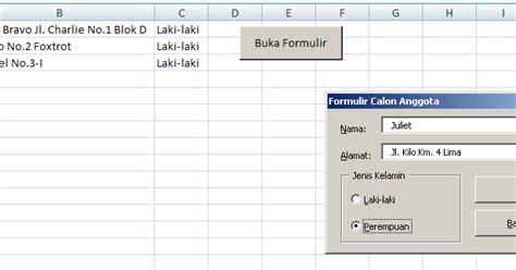 cara membuat form sederhana di excel cara membuat form entri database sederhana dalam excel