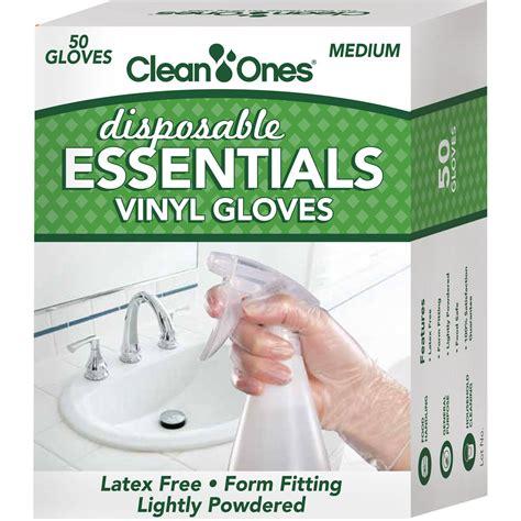 Essential Vinyl Gloves - clean ones essentials disposable vinyl gloves 50 count