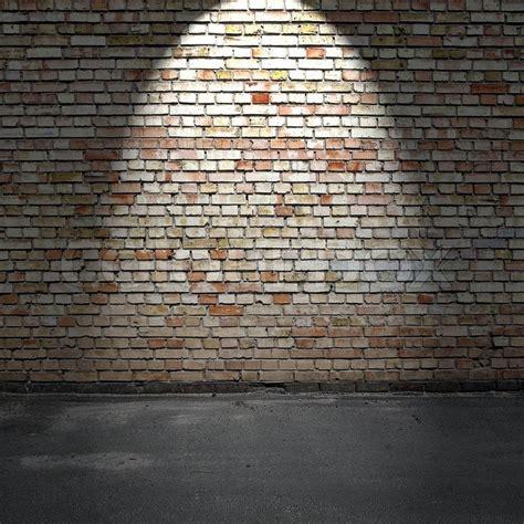 brick wall and concrete floor stock photo colourbox