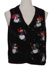 sweater vest with lights womens multi colored twinkling light up