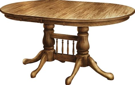 pedestal dining room tables amish tulip double pedestal dining room table