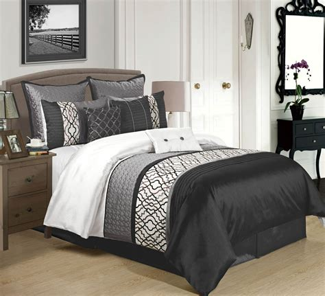 black and white comforters sets 9 cambridge black charcoal white comforter set