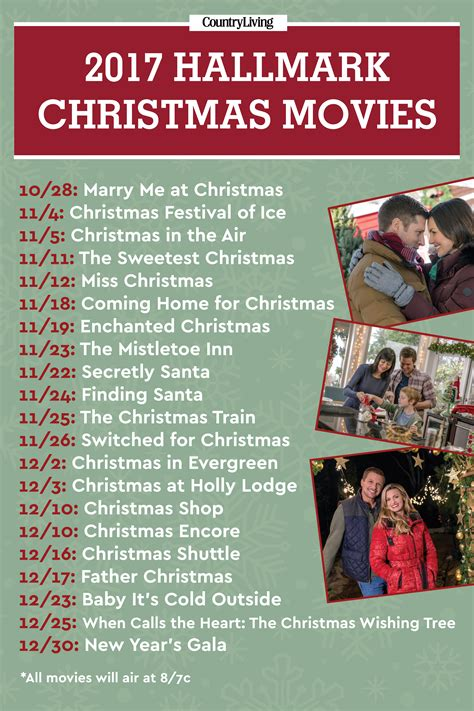 film 2017 christmas hallmark christmas movie premiere dates 2017 new