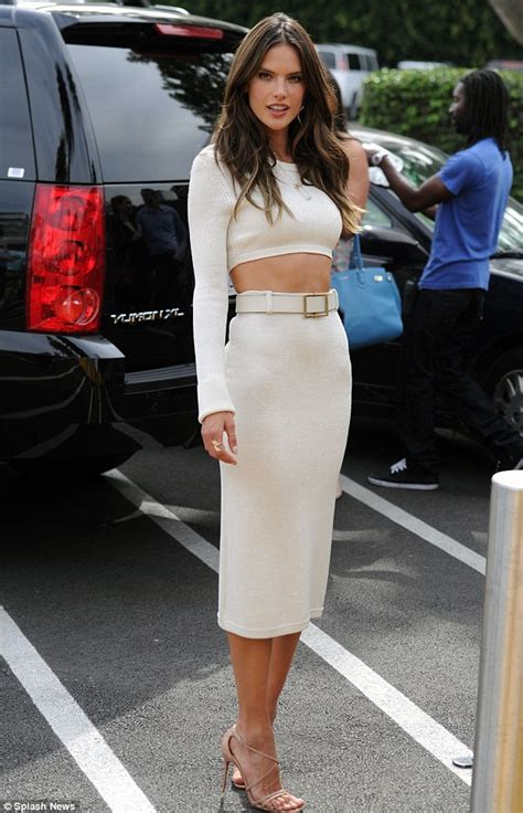 Wears Really Cool by Alessandra Ambrosio Wears A Tight Curve Hugging Dress