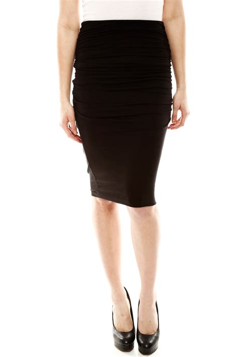 three dots ruched pencil skirt from omaha by piper