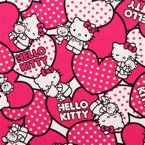 imagenes de hello kitty rosa tela oxford corazones rosas hello kitty de sanrio jap 243 n