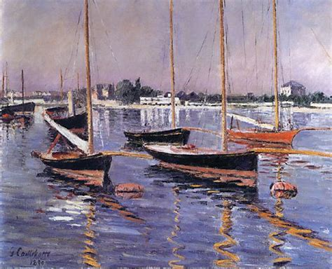 boats on the seine mystudios gustave caillebotte boats on the seine at
