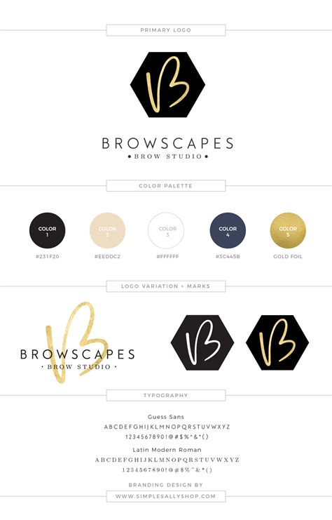 Small Flat Design small business logo design browscapes brow studio