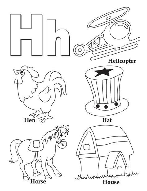 Letter H Coloring Pages Preschool by My A To Z Coloring Book Letter H Coloring Page Low