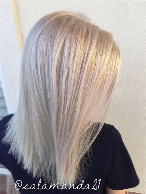 hair color for over30 white blonde all over platinum hair done by me manda