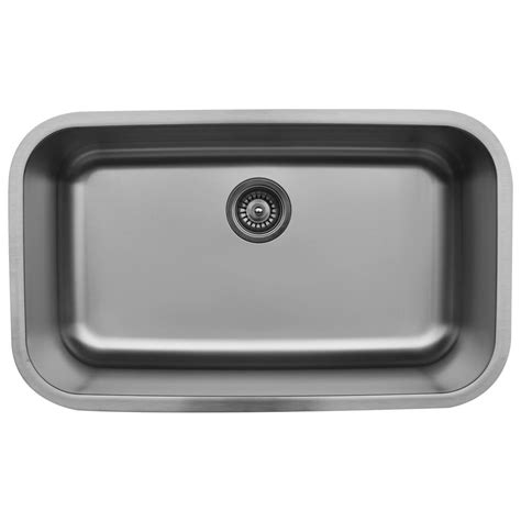 Oversized Stainless Steel Kitchen Sinks Karran Undermount Stainless Steel 31 In Large Single Bowl Kitchen Sink Karran U 3018