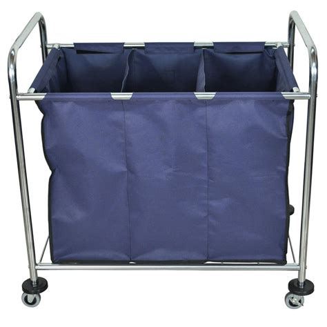 Luxor Industrial Laundry Cart With Dividers Medical Cart Laundry Divider