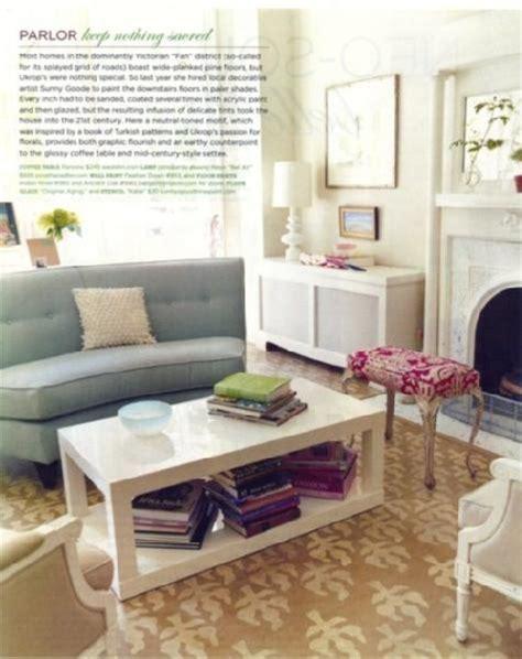 modern home decor magazines like domino white parsons coffee table contemporary living room domino magazine
