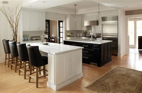 kitchen with island and peninsula contemporary kitchen