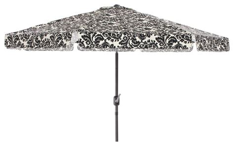 Pillow Perfect Black White Damask 9 Foot Patio Umbrella Black And White Patio Umbrella