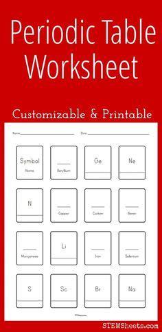 printable periodic table squares customizable and printable lewis dot diagram worksheet