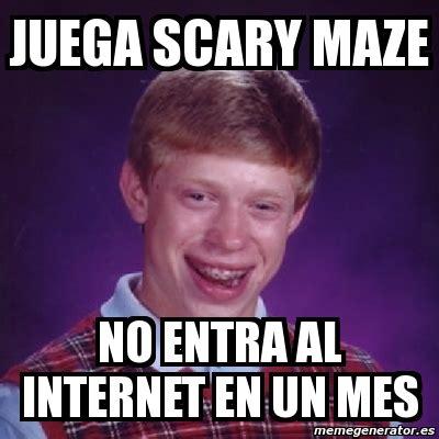 Scary Internet Memes - meme bad luck brian juega scary maze no entra al