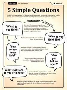 5 simple questions to ask in the classroom poster jivespin
