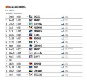 cleveland browns home schedule cleveland browns 2016 nfl schedule released