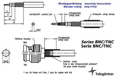 Perangkat Elektronik Solder Wick Goot Wick Original bnc stecker gerade ausfuehrung crimp rg174u 188u 50 ohm grieder elektronik bauteile ag