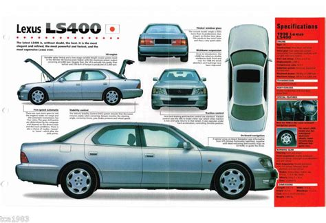 free download parts manuals 1990 lexus ls on board diagnostic system purchase 1997 1998 lexus ls400 ls 400 imp brochure motorcycle in hull massachusetts us
