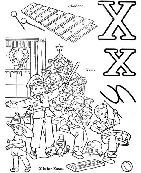 Y Words Coloring Pages by X Words Coloring Pages Page Letter Xylophone S For