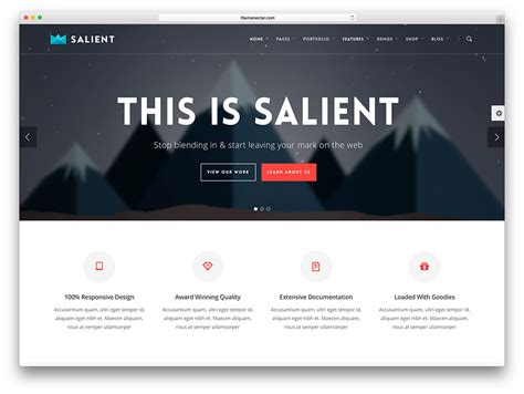 free website templates home design salient modern insurance wordpress theme